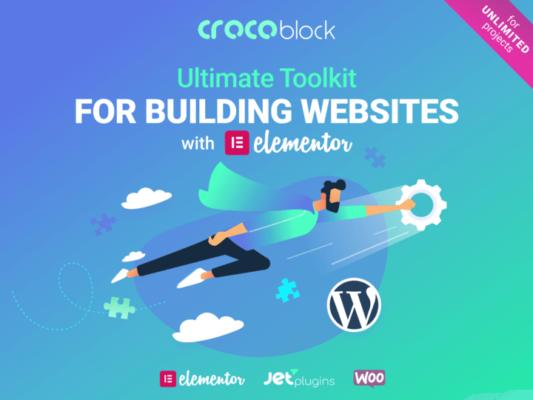 Crocoblock: 18 extensions pour créer un  site WordPress en un clin d'oeil!