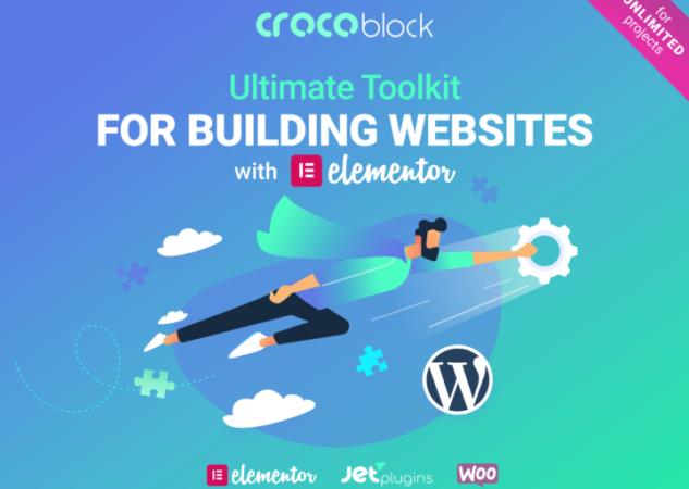 Crocoblock: 18 extensiones para crear un sitio web de WordPress en un abrir y cerrar de ojos!