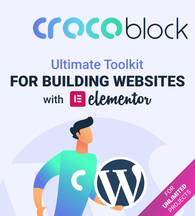 Crocoblocks Creador de sitios web WordPress