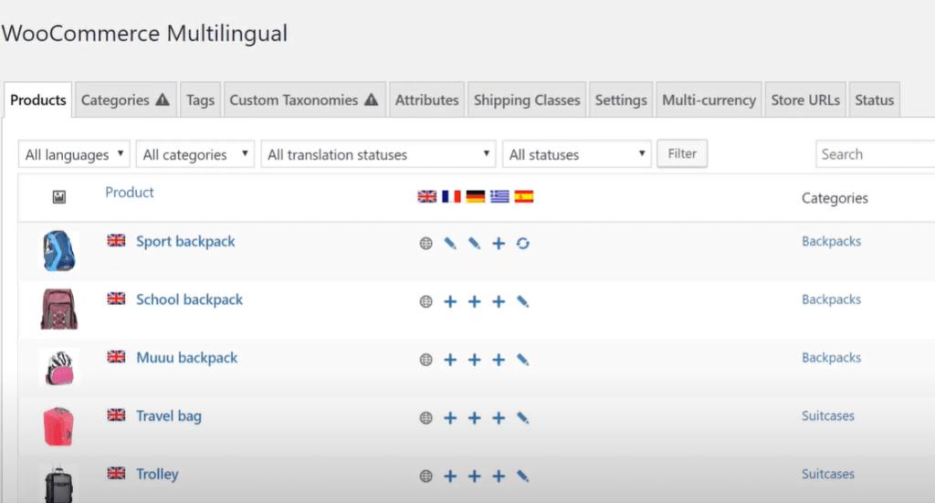 WPML WooCommerce Multilingual