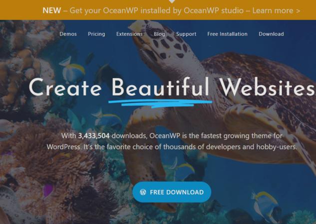 OceanWP: el tema personalizable N°1 para WordPress
