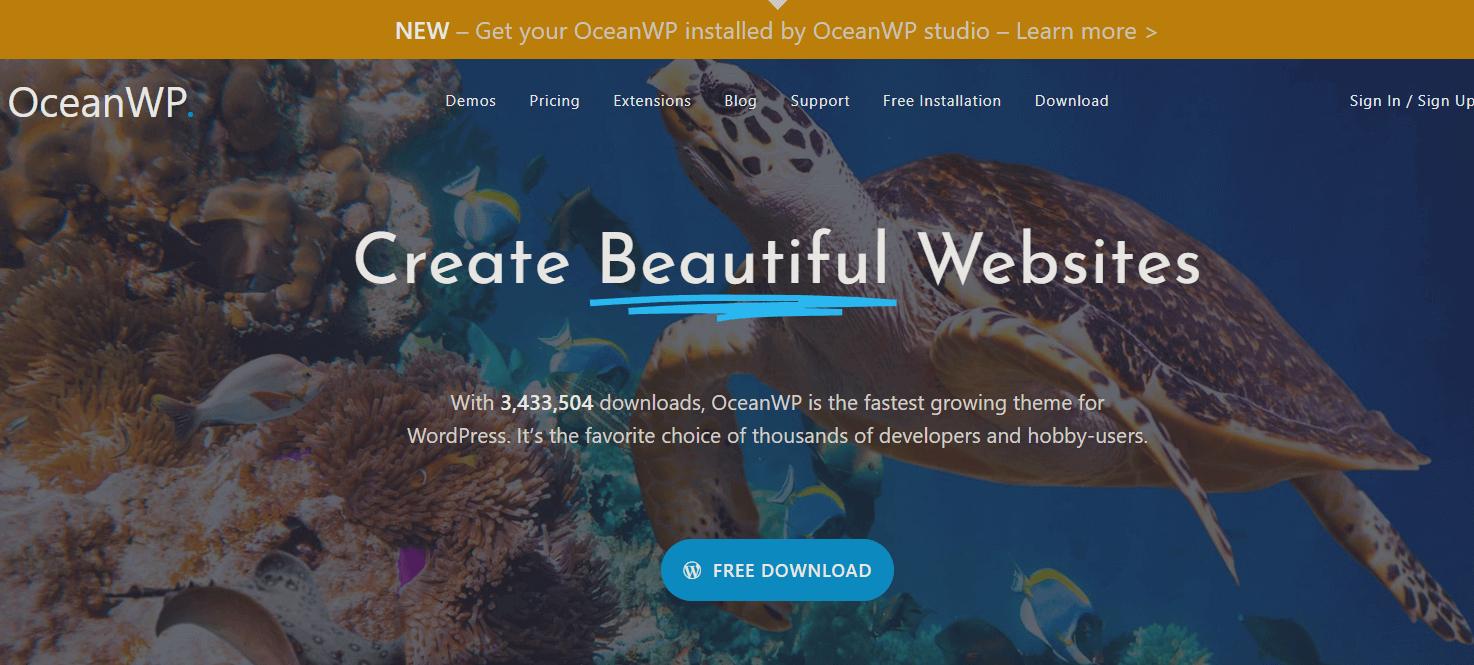 You are currently viewing OceanWP: özelleştirilebilir tema no. 1