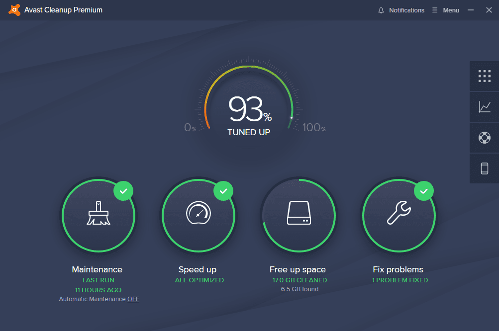 Avast antivirus interface 14