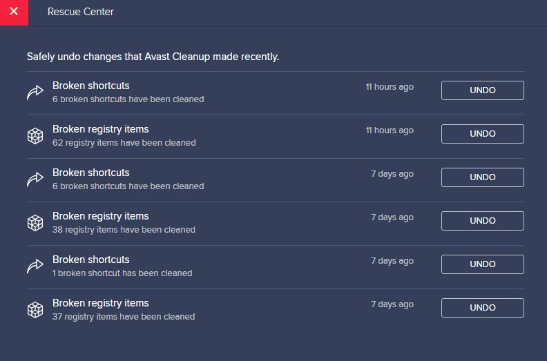 Avast antivirus interface 16